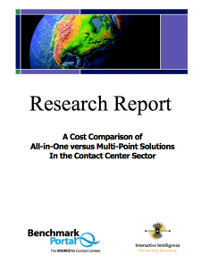 A Cost Comparison of All-in-One versus Multi-Point Solutions In the Contact Center Sector