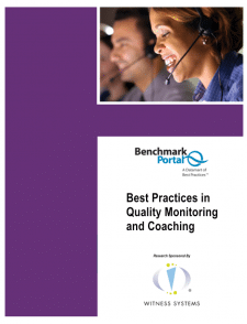 Best Practices in Quality Monitoring and Coaching