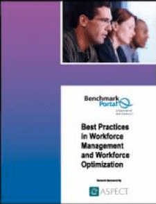 The team of researchers from BenchmarkPortal and Purdue University's Center for Customer-Driven Quality have focused, once again, on your most vital resource: YOUR PEOPLE. Study Findings include: What are the impact factors in best practice companies, Workforce Optimization Cycle and Components, Forecasting and Scheduling Alternatives, Workforce Management Roles & Responsibilities, Workforce Management Metrics, and Developing Optimal Schedules.