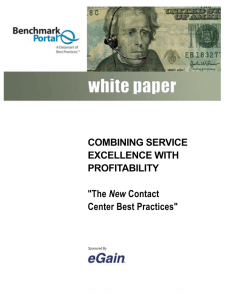 Combining Service Excellence with Profitability